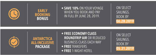 Silversea: Early booking bonus and Antarctica all-inclusive package