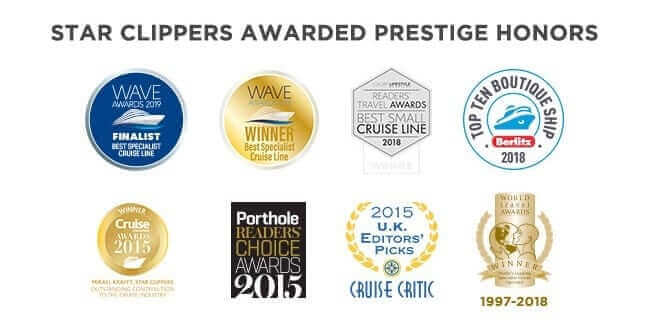 Star Clippers Awarded Prestige Honors