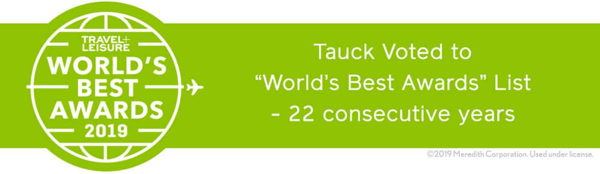 Tauck travel-and-leisure-2018 Award