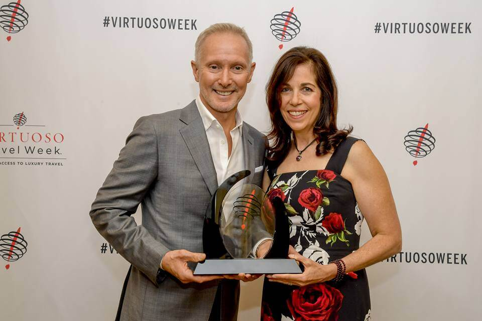 Mike and Gina, travel agency owners, at Virtuoso Awards