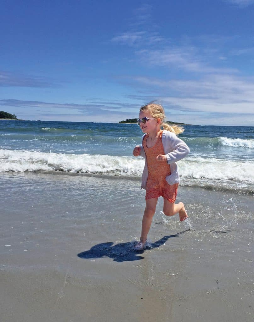 Barefoot time on Goose Rocks Beach. Photo by Joel Centano