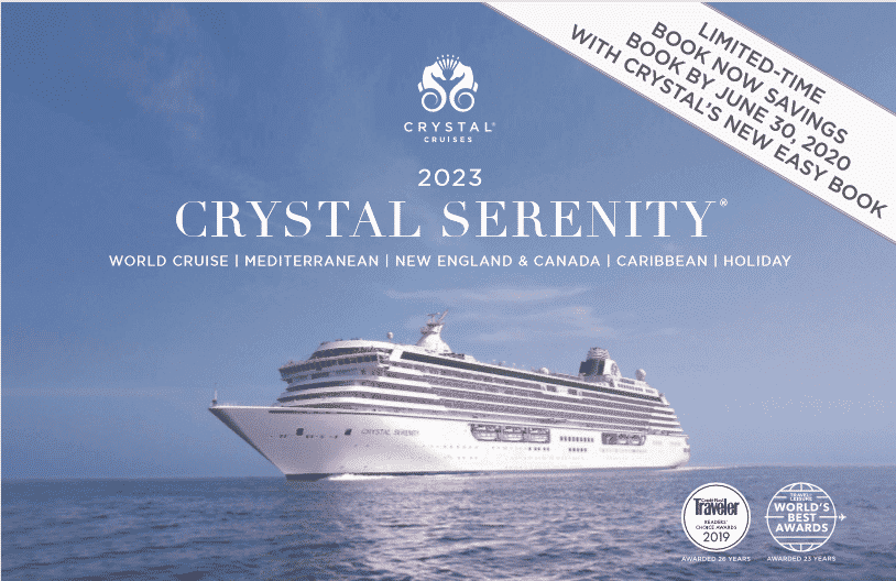 Crystal Cruises Easy Book - book by June 30 for 2023