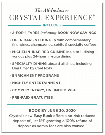 Crystal Cruises - The All-Inclusive Crystal Experience