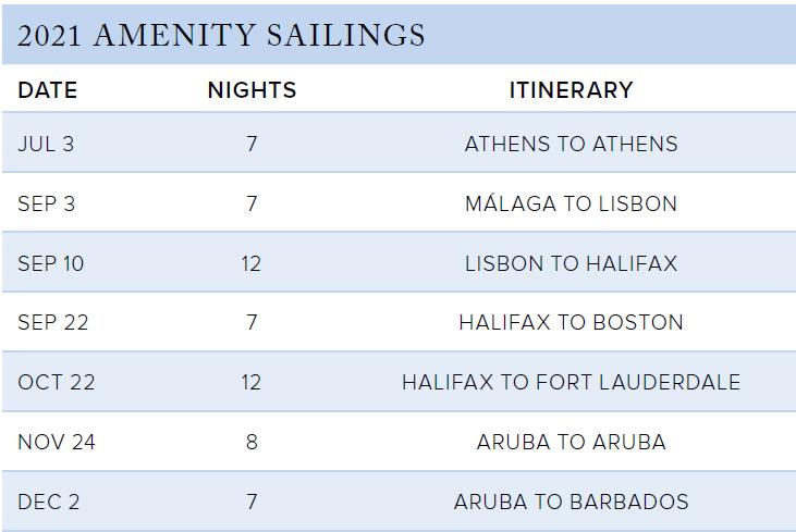 The Ritz-Carlton Collection - 2021 Amenity Sailings