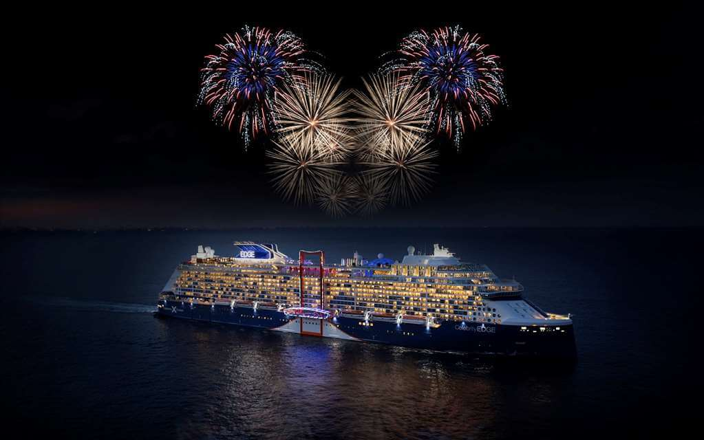 Celebrity Cruises - Celebrity Edge Night Fireworks