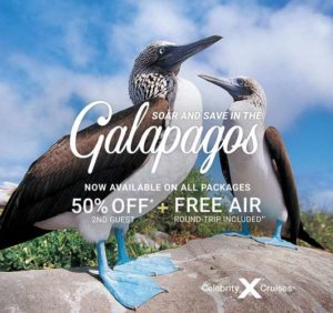 Celebrity Cruises-Galapagos-Half-Off nd Guest Air for XP and FL NEW Creative