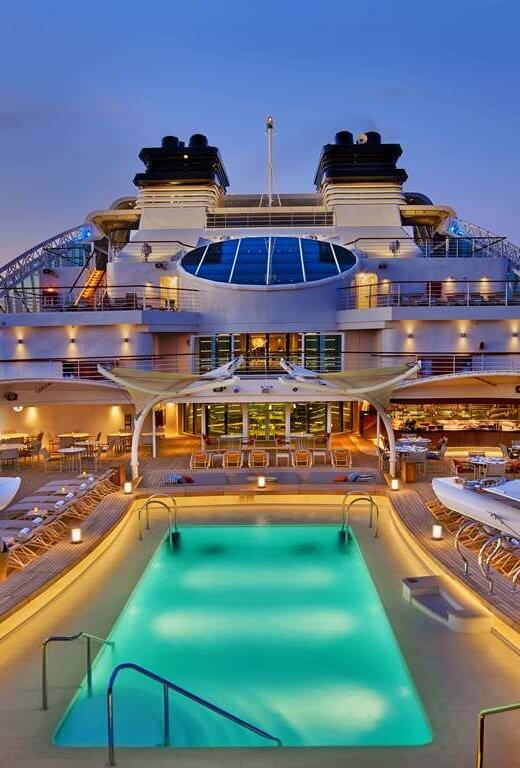 Seabourn Encore PoolDeck EL - luxury cruise ships; And remember: it's Yachting, not cruising®