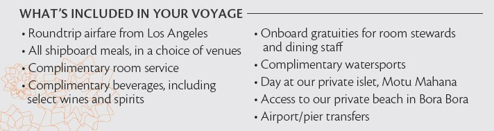 Paul Gauguin Cruises - What's Included in Voyages