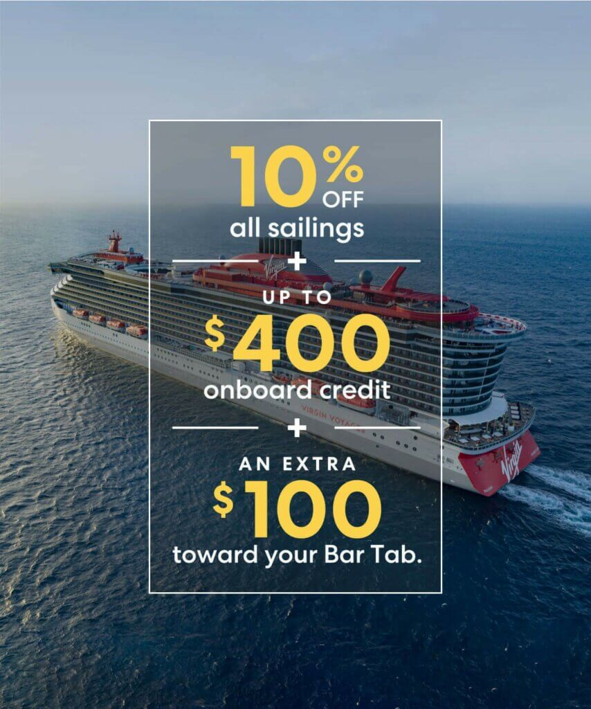 10% off voyages and up to $400 in onboard credit